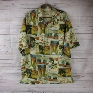 NEW Tommy Bahama Mens XL Silk Las Vegas Shirt